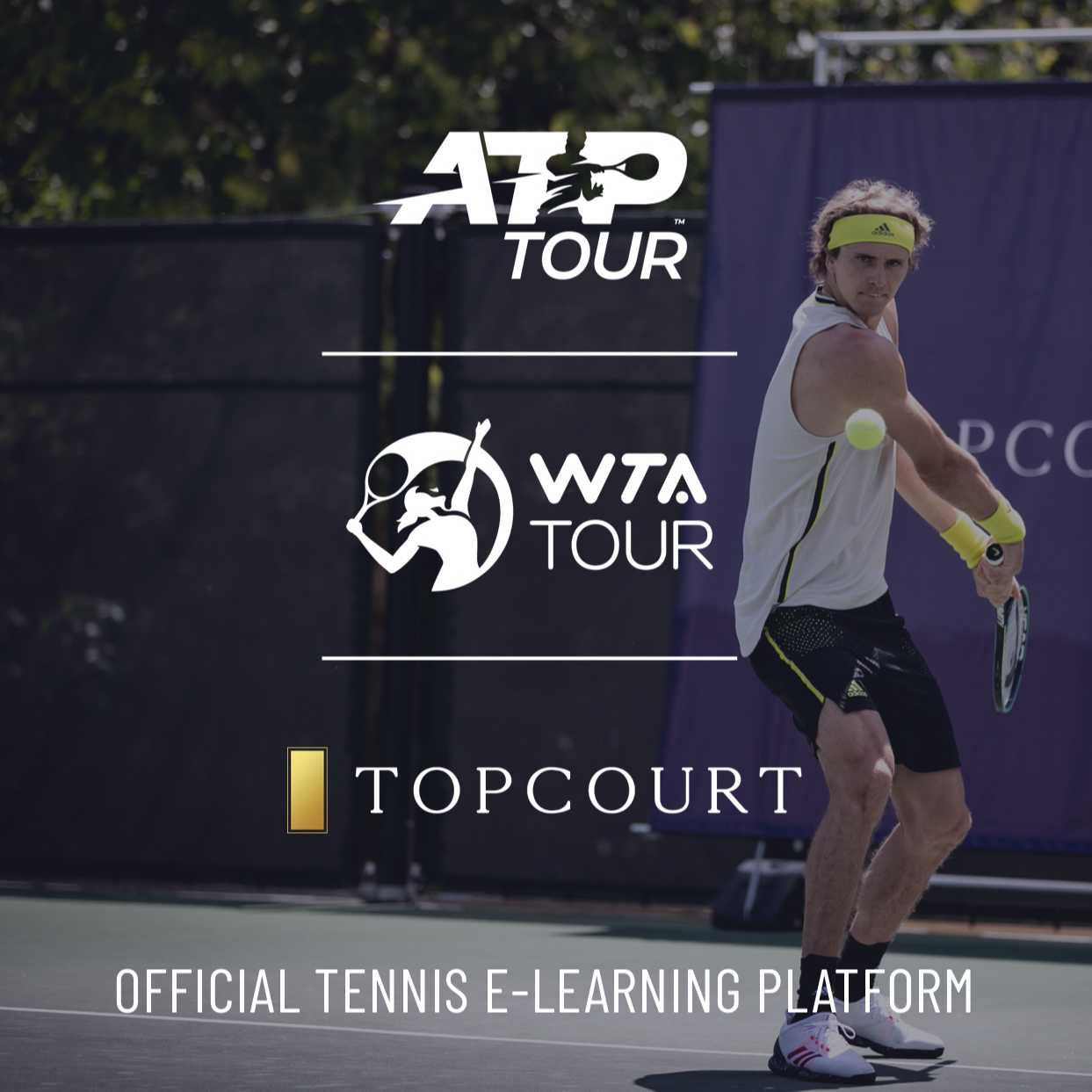 TopCourt Partners with the ATP and WTA Tours